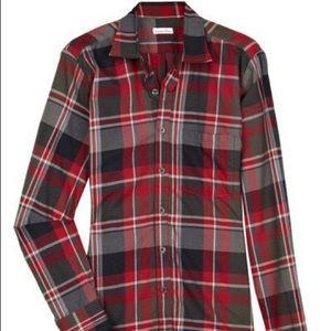 Steven Alan Cotton Checked Boyfriend Shirt Size M